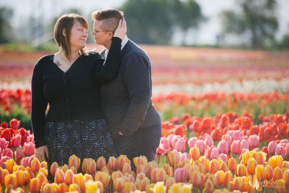 Sandra & Lisa – Abbotsford Tulip Festival Engagement